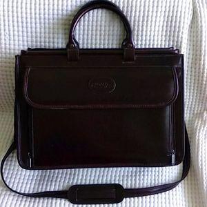Bugatti Vintage Unisex Waxed Leather Executive Briefcase